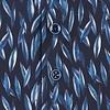 Donkerblauw verenprint katoenen overhemd