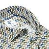 Wit stoelenprint dobby organic cotton-stretch overhemd