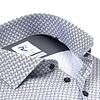 Wit fantasieprint dobby organic cotton overhemd