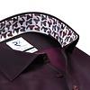 Bordeaux rood 2-PLY katoenen overhemd