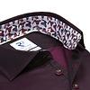 Extra lange mouwen. Bordeaux 2-PLY katoenen overhemd
