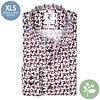 Extra long sleeves. White chair print organic cotton shirt