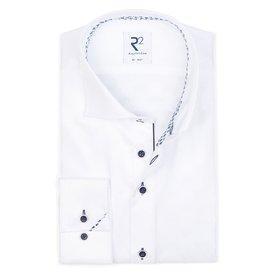 R2 Weiß 2 PLY Baumwollhemd