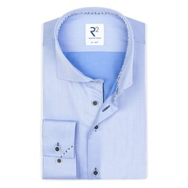 R2 Lichtblauw 2 PLY katoenen overhemd