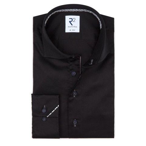 Zwart 2 PLY katoenen overhemd