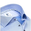Extra lange mouwen. Lichtblauw 2 PLY katoenen overhemd