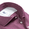 Bordeaux flanel stretch katoenen overhemd