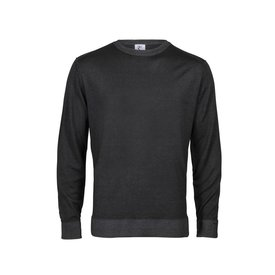 R2 Anthracite 100% wool cardigan