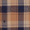 Blauw geruit flanel katoenen overshirt