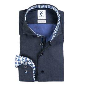 R2 Dark blue 2-PLY cotton shirt