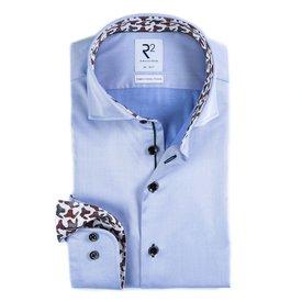 R2 Light blue 2-PLY cotton shirt.