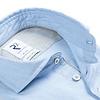 Lichtblauw flanel stretch katoenen overhemd