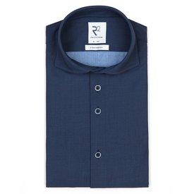 R2 Dark blue 4-way stretch jersey shirt