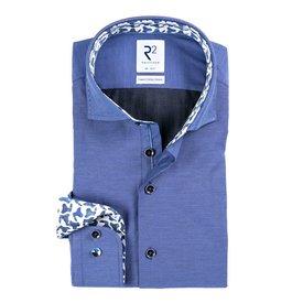 R2 Blau 2-PLY Baumwollhemd