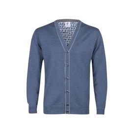 R2 Light blue 100% wool cardigan