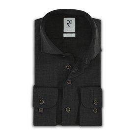 R2 Grey 100% merino wool shirt