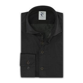 R2 Brown 2-PLY cotton shirt.