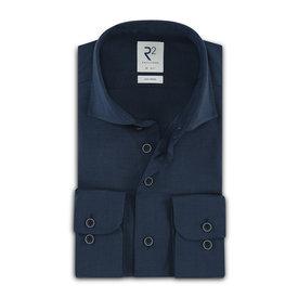 R2 Dark blue 100% merino wool shirt