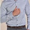 Extra lange mouwen. Grijs 2-PLY katoenen overhemd