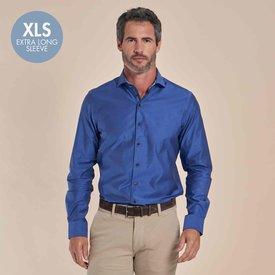R2 Extra lange mouwen. Blauw 2-PLY katoenen overhemd
