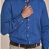 Blauw herringbone organic cotton overhemd
