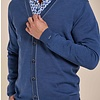 Light blue 100% wool cardigan