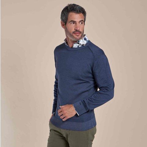 Lichtblauw 100% wollen trui