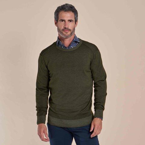 Groen 100% wollen trui