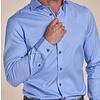 Blauw pied de poule 2-PLY katoenen overhemd