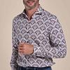 Wit plantenprint cotton-stretch overhemd