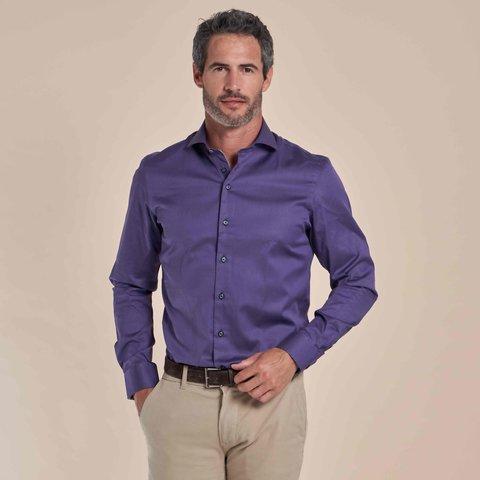 Paars 2-PLY katoenen overhemd