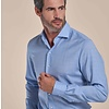 Lichtblauw 100% merino wollen overhemd