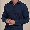 Donkerblauw fijn ribcord katoenen overhemd
