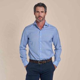 R2 Light blue 100% merino wool shirt