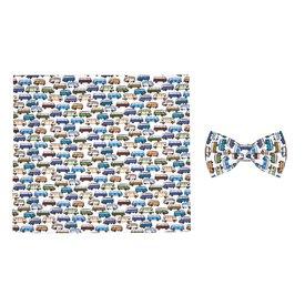 R2 Kids iconic van print cotton bow tie