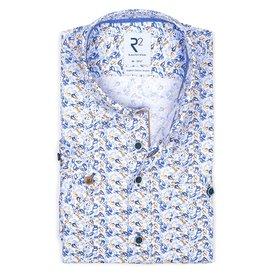 R2 Korte mouwen vissenprint organic katoen overhemd.