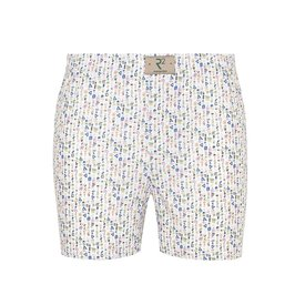 R2 White abstract print cotton boxershorts