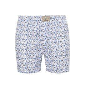 R2 White fish print cotton boxershorts