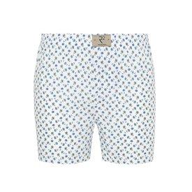 R2 White flower print cotton boxershorts