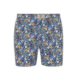 R2 Multicolour feather print cotton boxershorts