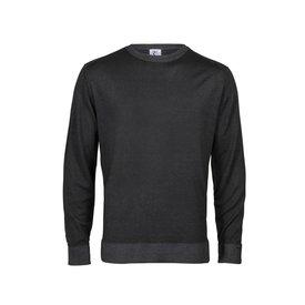 R2 Anthracite 100% wool crewneck