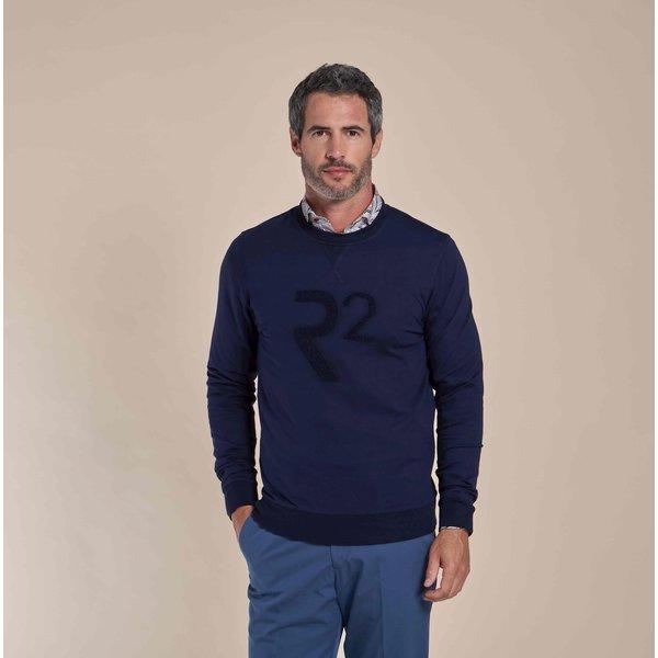 R2 Donkerblauwe sweater