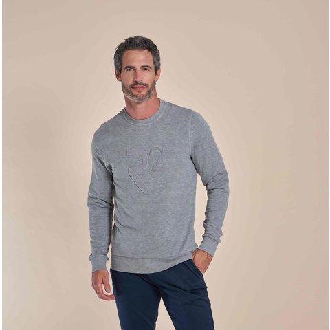 Grijze sweater trui
