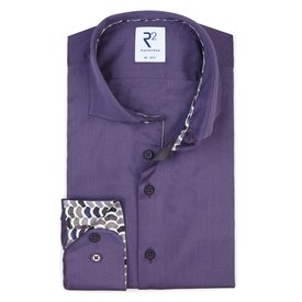 R2 Purple 2-PLY cotton shirt.