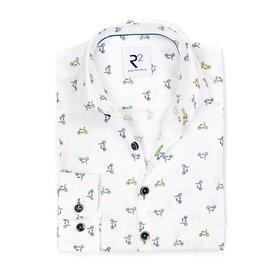 R2 Kids Phatfour cycling print cotton shirt.