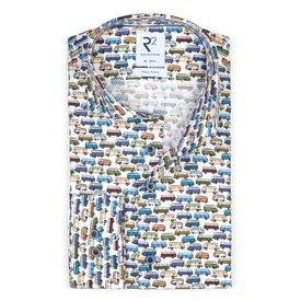 R2 Kids iconic bus print cotton shirt.
