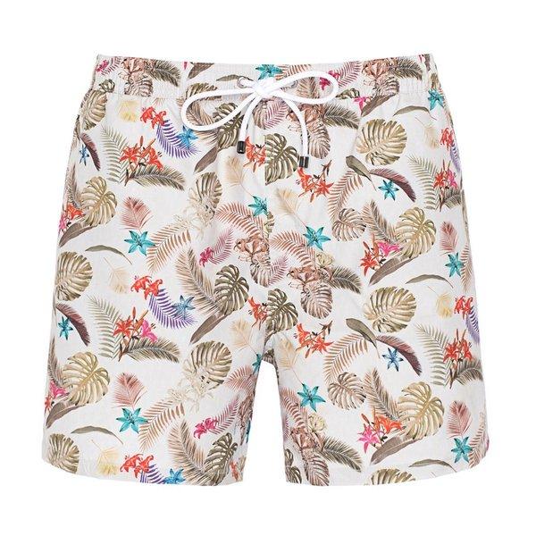 R2 Swim short with tropical dessin.