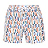 Swim short with surfboards.
