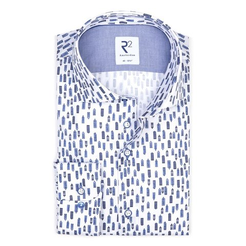 White houses print cotton shirt.