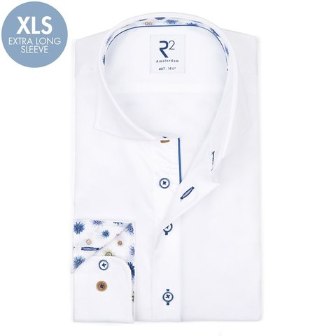 Extra Long Sleeves. White cotton shirt.